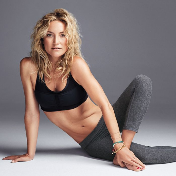 5f0a593b10 Kate has one of the best excuses for living in her yoga pants… She owns an  active wear line. FabLetics is Kate Hudson's line of clothes for active  women.
